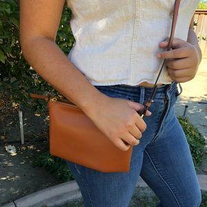 Tan faux leather purse